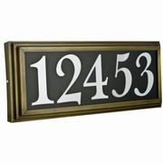 "Sunset Lighting Large Address Light Stepped 4"" Numbers Black Vinyl with Transformer"