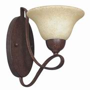"Sunset Lighting 11.25"" 1 Light Palisades Wall Sconce in Rubbed Bronze"