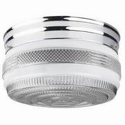 "Sunset Lighting 6"" Clear & White Flush Mount"
