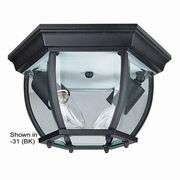 Sunset Lighting 2 Light Outdoor Flush Mount with Clear Beveled Glass
