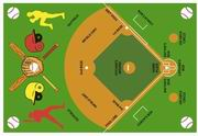 Fun Rugs Fun Time New Baseball Field Rug [FT-122]