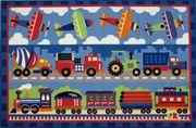 Fun Rugs Olive Kids Trains, Planes & Trucks Rug [OLK-003]