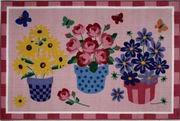 Fun Rugs Olive Kids Blossoms & Butterflies Rug [OLK-014]