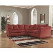 Signature Design by Ashley Darcy Sectional in Salsa Fabric [FSD-1109SEC-RED-GG]