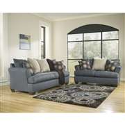 Signature Design by Ashley Mindy Living Room Set in Indigo Fabric [FSD-2289SET-IND-GG]