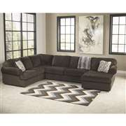 Signature Design by Ashley Jessa Place Sectional in Chocolate Fabric [FSD-6049SEC-CHO-GG]