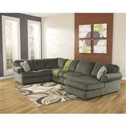 Signature Design by Ashley Jessa Place Sectional in Pewter Fabric [FSD-6049SEC-PEW-GG]