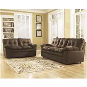 Signature Design by Ashley Mercer Living Room Set in Cafe Fabric [FSD-7199SET-CAF-GG]