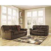 Signature Design by Ashley Dominator Living Room Set in Cafe Fabric [FSD-8799SET-CAF-GG]