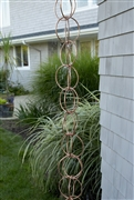 Good Directions Double Link Rain Chain - Polished Copper