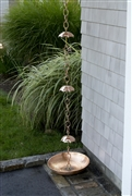 Good Directions Rain Chain Basin - Polished Copper