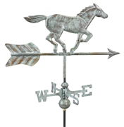 Good Directions Horse Garden Weathervane - Blue Verde Copper w/Roof Mount
