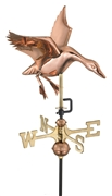 Good Directions Landing Duck Garden Weathervane - Polished Copper w/Roof Mount