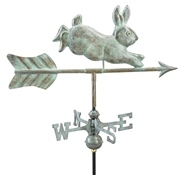 Good Directions Rabbit Garden Weathervane - Blue Verde Copper w/Garden Pole