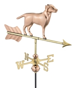 Good Directions Labrador Retriever Garden Weathervane - Polished Copper w/Roof Mount