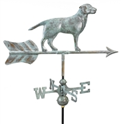 Good Directions Labrador Retriever Garden Weathervane - Blue Verde Copper w/Garden Pole