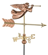 Good Directions Angel Garden Weathervane - Polished Copper w/Garden Pole