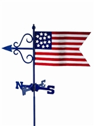 Good Directions American Flag Garden Weathervane w/Roof Mount