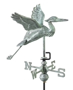 Good Directions Blue Heron Garden Weathervane - Blue Verde Copper w/Garden Pole