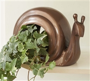 Good Directions Enchanted Snail - Bird Feeder - Bronze