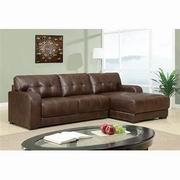 Global Furniture Bonded Leather 2 Pc Sectional in Brown [U11927-SEC]