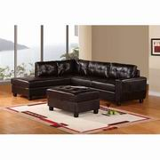 Global Furniture Bonded Leather 2Pc Sectional in Espresso [U5190]