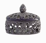 Imax, CKI Short Lidded Cutwork Box (25154)