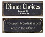 Imax, Breakfast and Dinner Signs - Set of 2 (27485-2)