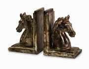 Imax, Quinn Horse Bookends - Set of 2 (40196-2)