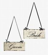 Imax, Bride And Groom Decorative Sign (47244-2)
