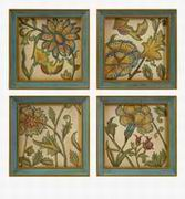 Imax, Elberta Handpainted Wall Art - Set of 4 (47299-4)