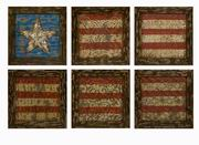 Imax, Glory American Flag Wall Decor- Set Of 6 (47374-6)