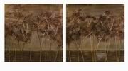 Imax, CKI Morales Textured Trees Oils on Canvas - Set of 2 (61118-2)