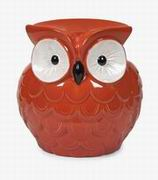 Imax, Hoot Owl Orange Garden Stool (69274)