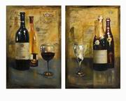 Imax, Corbeau Vino Oil Painting - Set of 2 (70329-2)