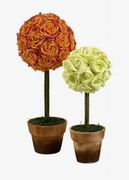 Imax, Aidelle Rose Topiaries - Set of 2 (70513-2)