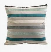 Imax, Admetus Blue Multi-striped Pillow (70624)