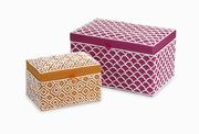 Imax, Kamie Beaded Boxes - Set of 2 (70811-2)
