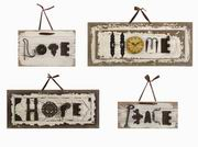 Imax, Bennett Found-Object Wall Plaques - Set of 4 (72046-4)