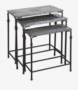 Imax, Gilbert Galvanized Nesting Tables - Set of 3 (74232-3)
