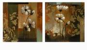 Imax, Damask Floral Oils On Canvas - Set of 2 (82024-2)
