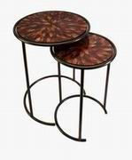 Imax, Mashaka Handcrafted Mosaic Glass Tables - Set of 2 (83015-2)