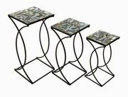 Imax, Crowley Mosaic Nesting Tables - Set of 3 (84120-3)