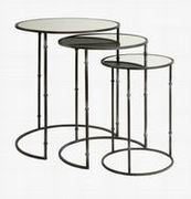 Imax, Flouressa Mirror Top Nesting Tables - Set of 3 (84151-3)