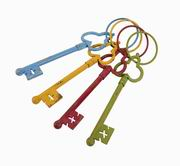 Imax, Macaire Decorative Assorted Keys - Set of 4 (84170-4)