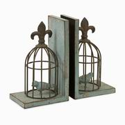Imax, Birdcage Bookends - Set of 2 (87378-2)