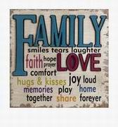 Imax, Love and Family Wall Decor (87455)