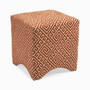 Imax, Marisa Graphic Ottoman - Orange (89751)