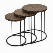 Imax, Hoki Coco Shell Tables - Set of 3 (89909-3)