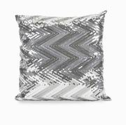 Imax, Estradin Silver Sequin Chevron Pillow (89942)